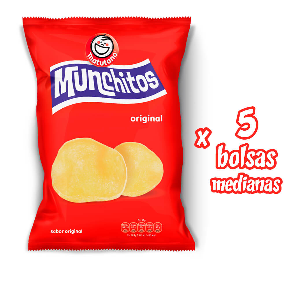 Munchitos Original lote 5 bolsas medianas