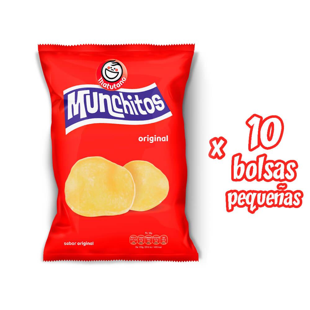 Munchitos Original lote 10 bolsas pequeñas