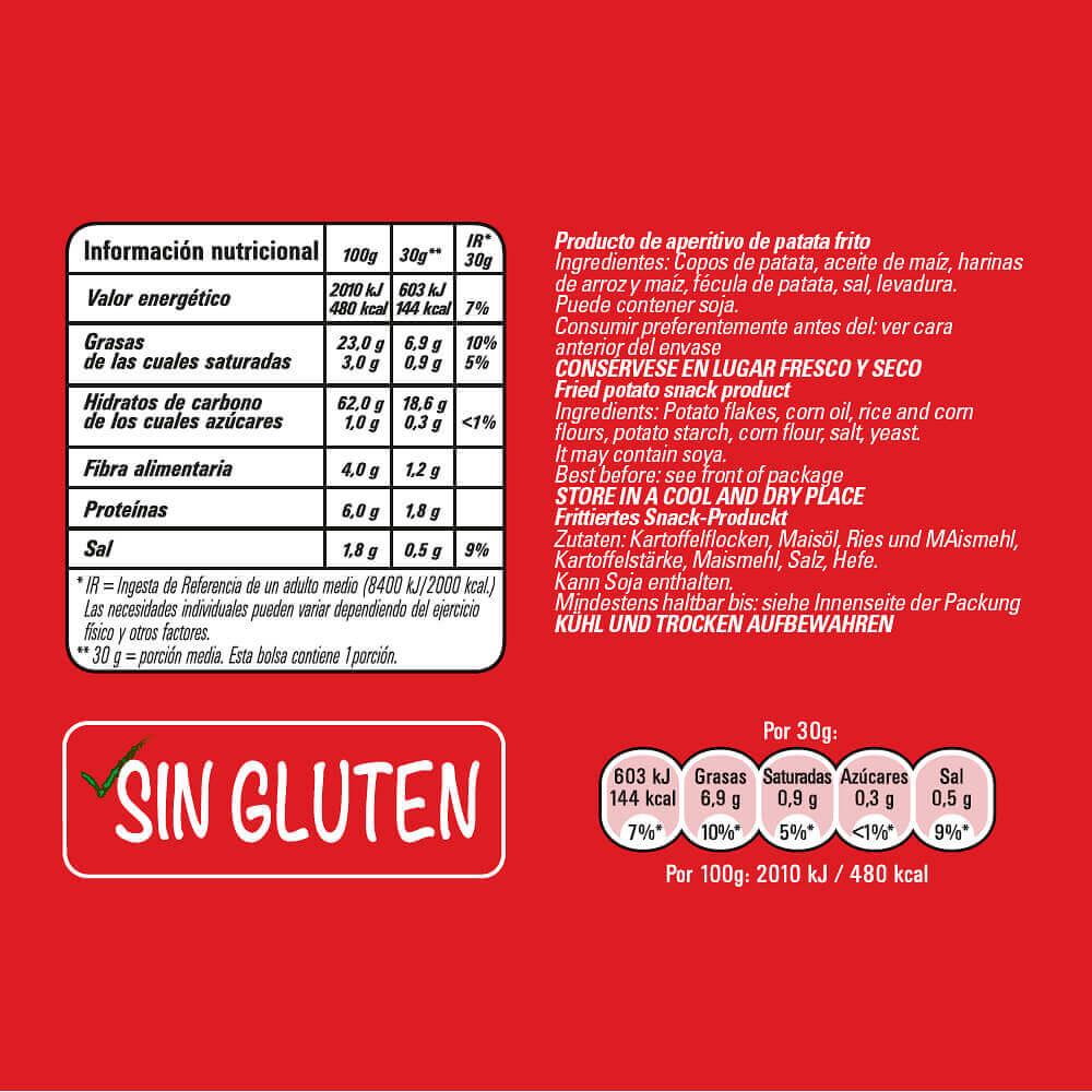 Munchitos Original información nutricional