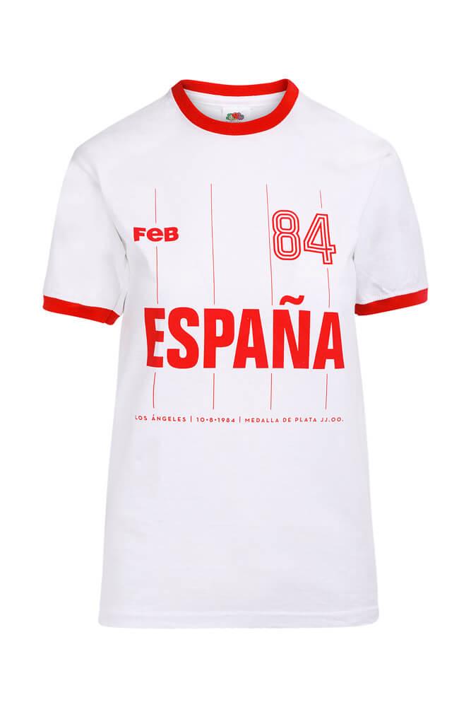 Baloncesto España Camiseta de España Los Ángeles 84 blancas