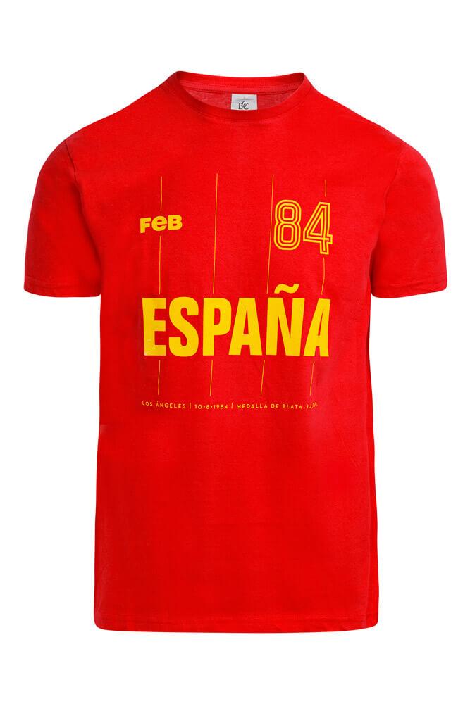 Baloncesto España Camiseta de España Los Ángeles 84 rojas