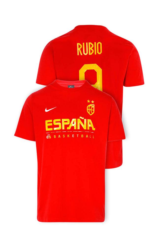 Baloncesto España Camiseta roja Team Ricky Rubio