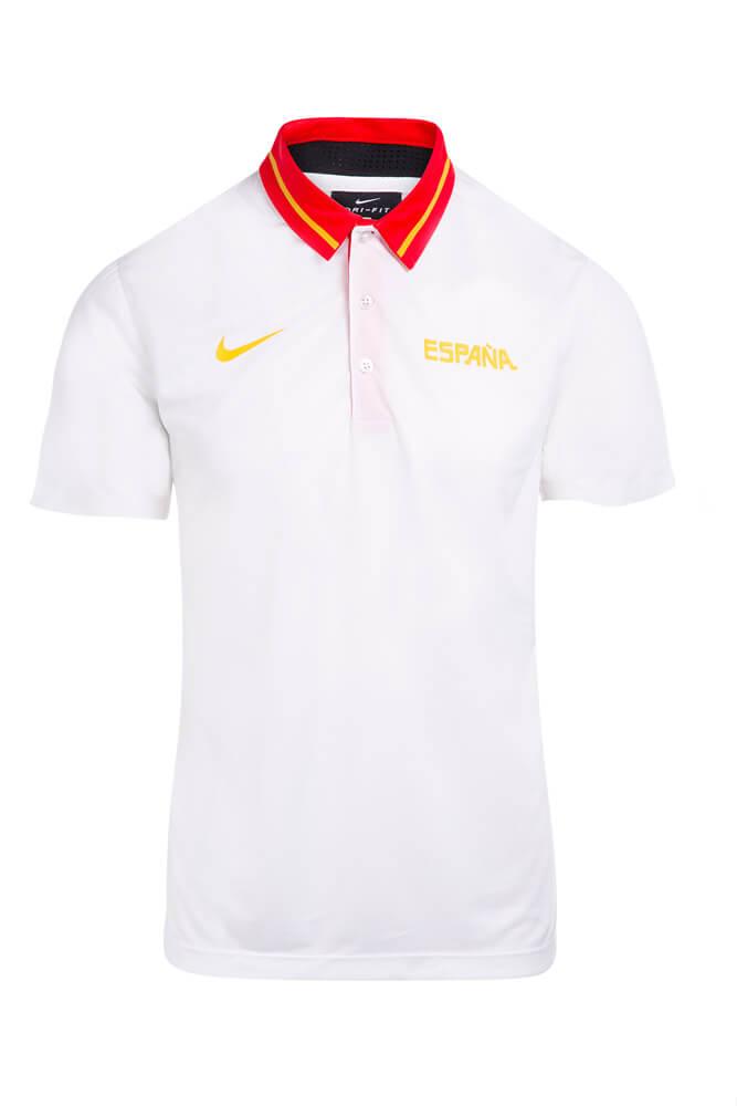 Baloncesto España Polo oficial FEB blanco