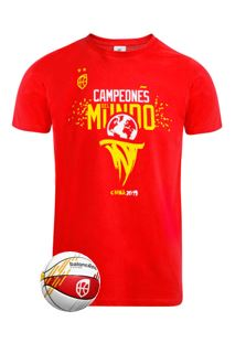 Baloncesto España Pack Mini Balón y Camiseta Campeones del Mundo