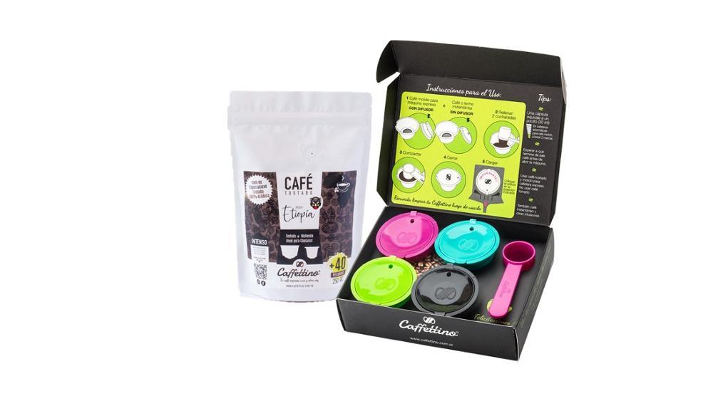 Caffettino 4 Capsulas rellenables para Dolce Gusto y Café de Especialidad de Etiopía