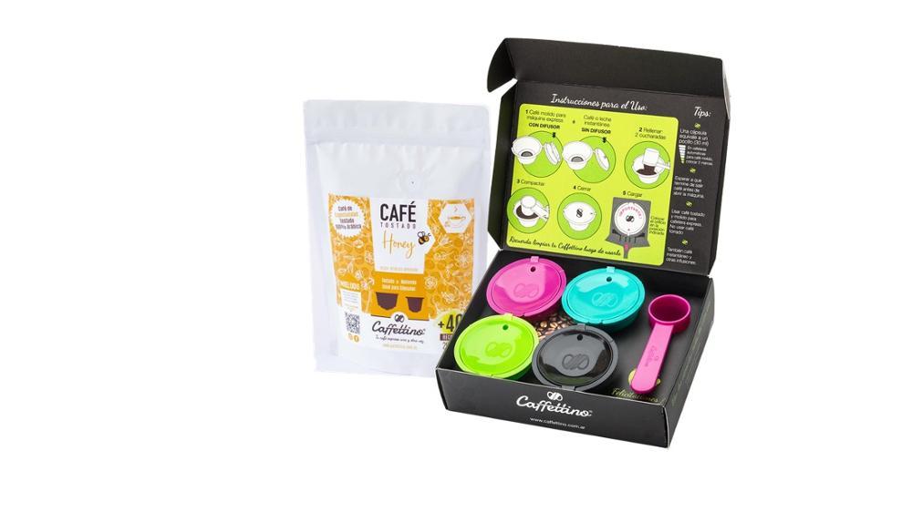 Caffettino 4 Capsulas rellenables para Dolce Gusto y Café de Especialidad Honey.