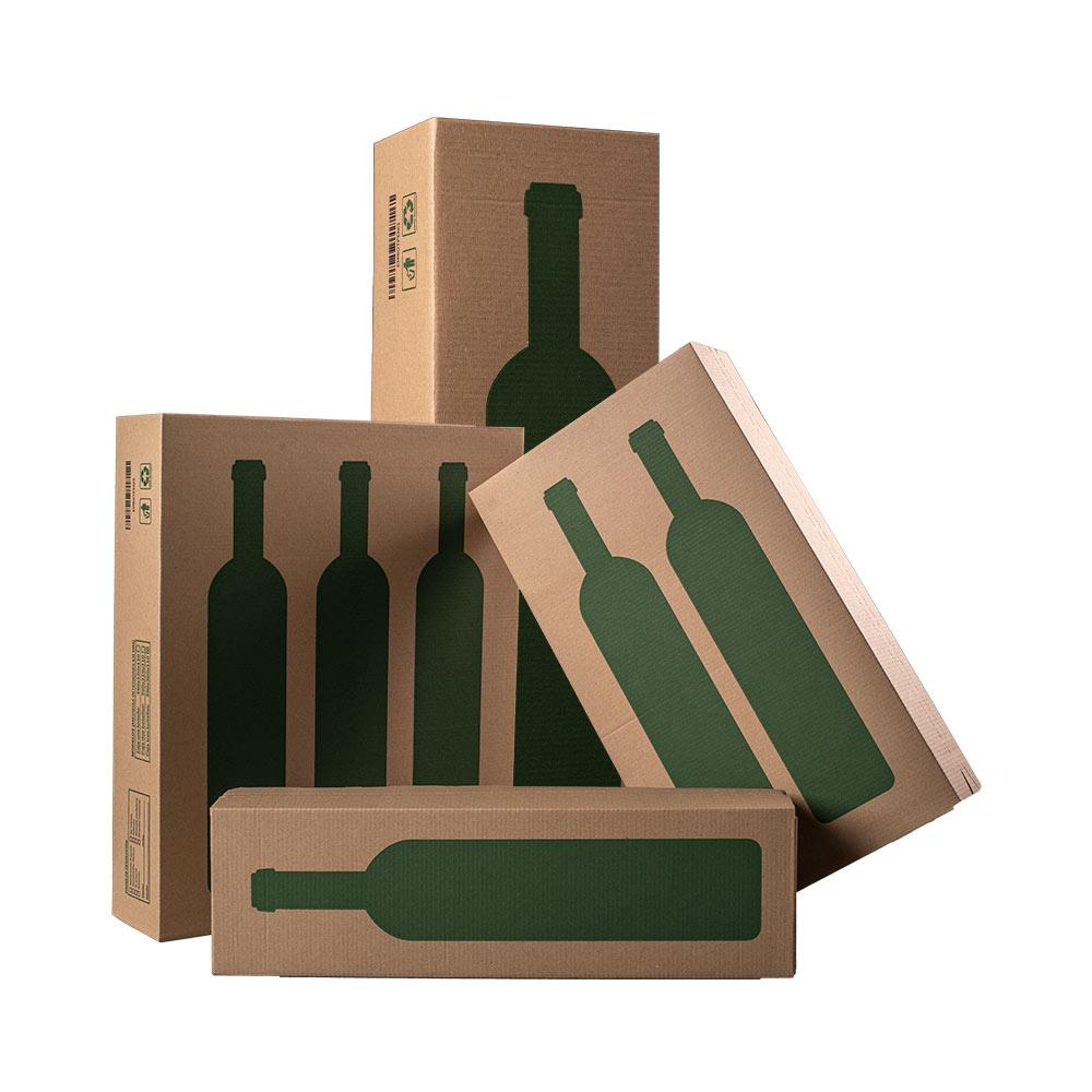 Caja para dos botellas