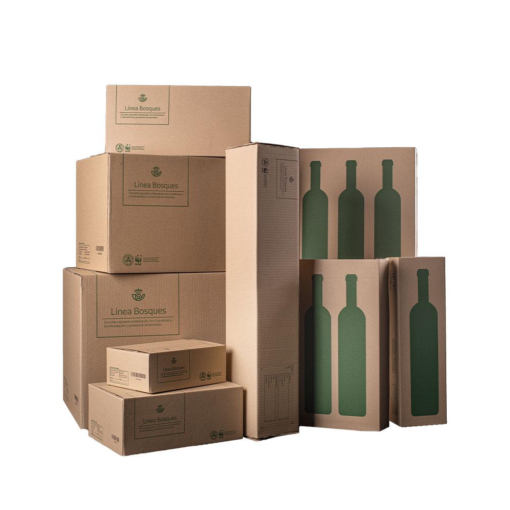 Caja para una botella