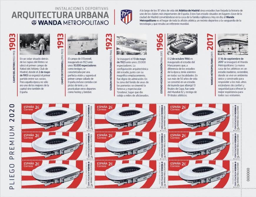 Pack de 9 sellos Wanda - Atlético de Madrid