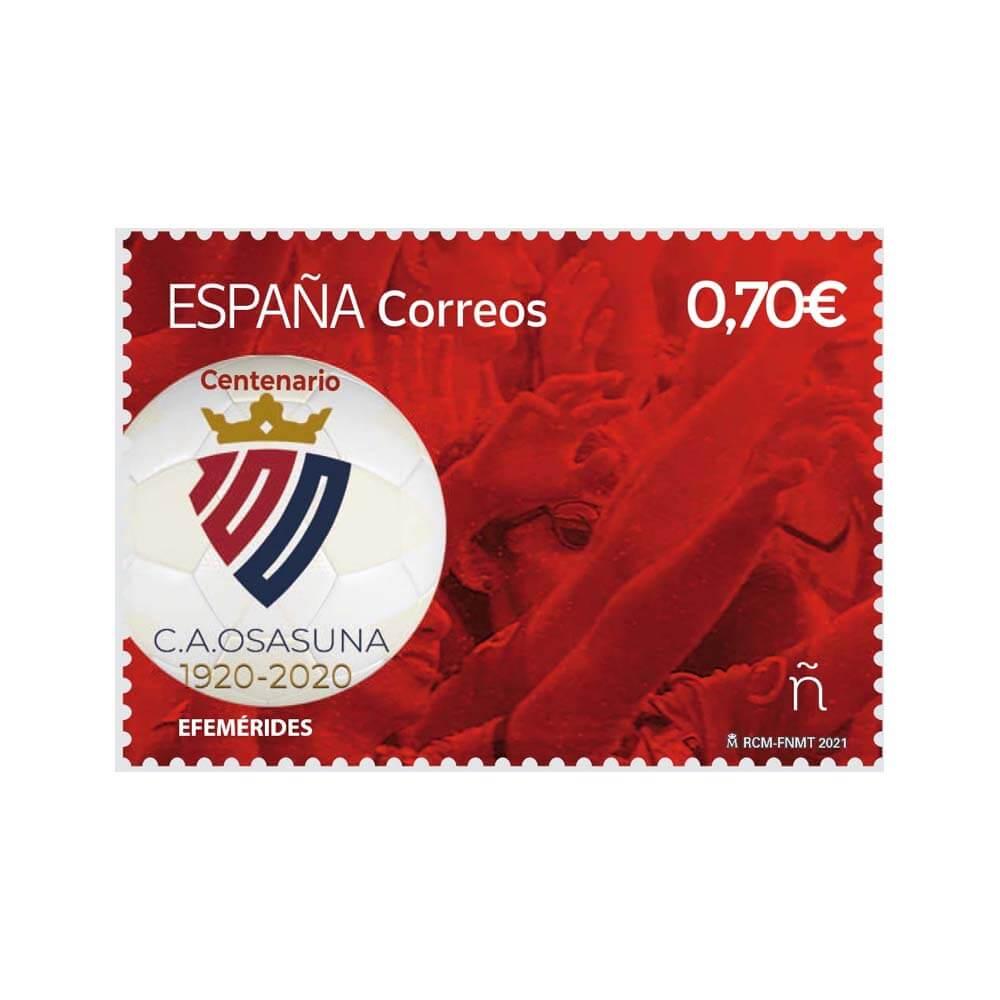 Sello Centenario del Atlético Osasuna (pack de 5)