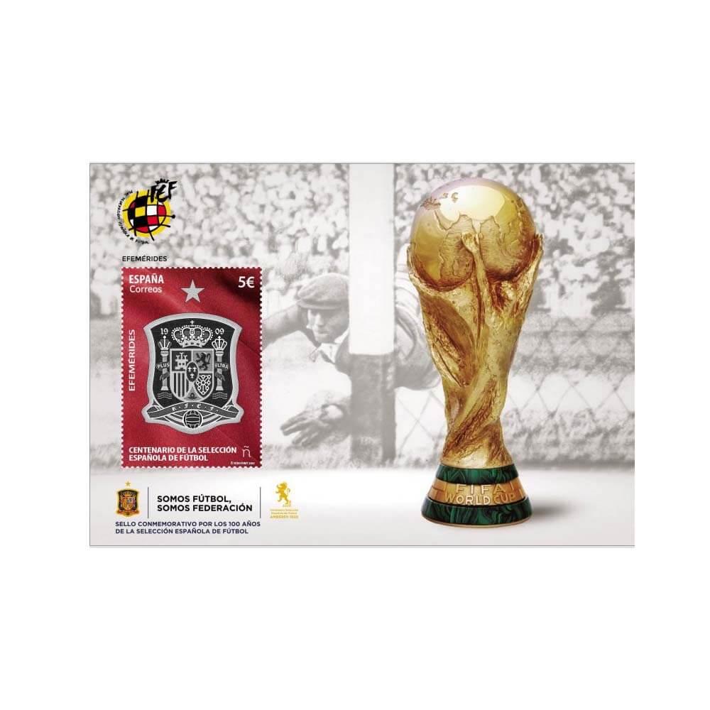 Sello Centenario de la Selección Española de Fútbol