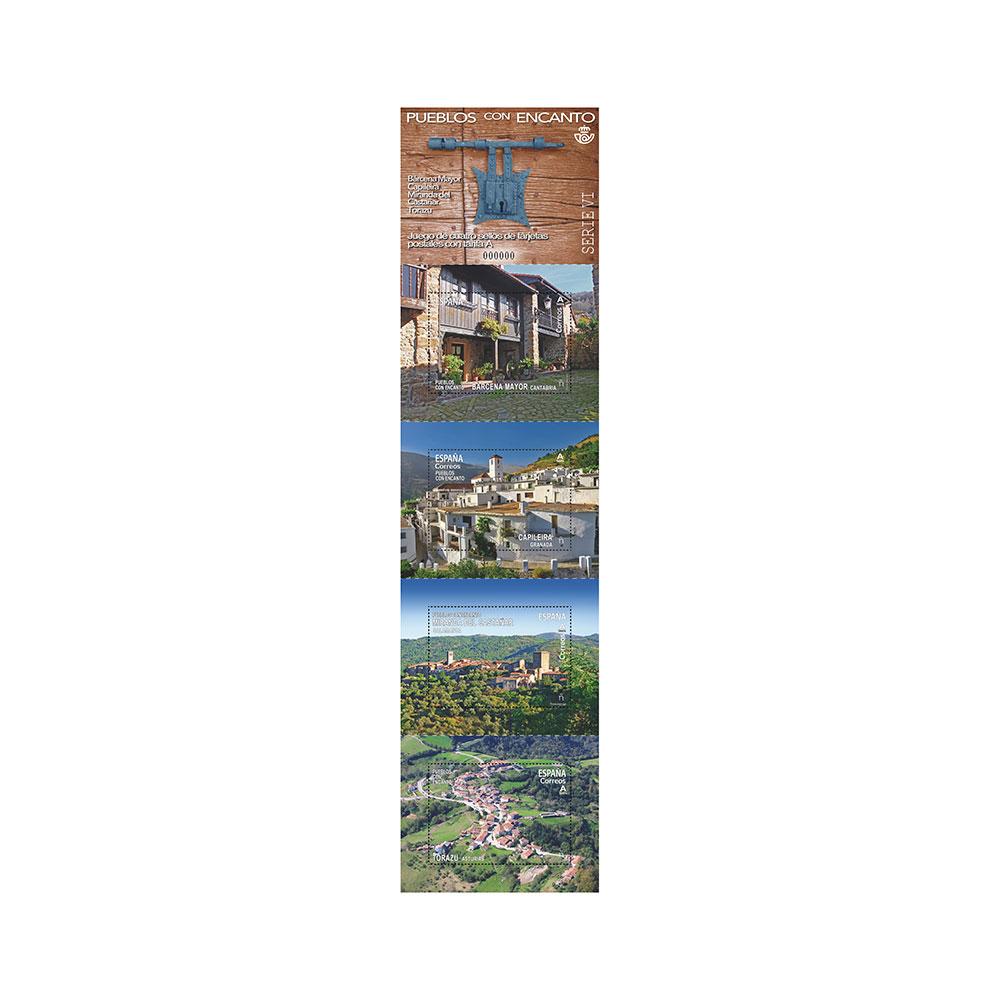 Sello pueblos con encanto Serie VI (hoja bloque)