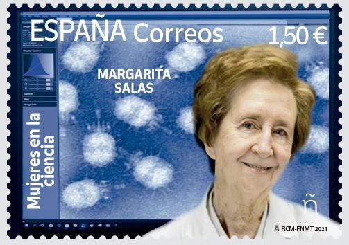 Sello Margarita Salas (pack de 5)