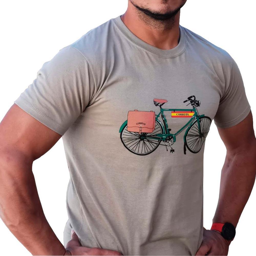 Camiseta bicicleta tierra Correos