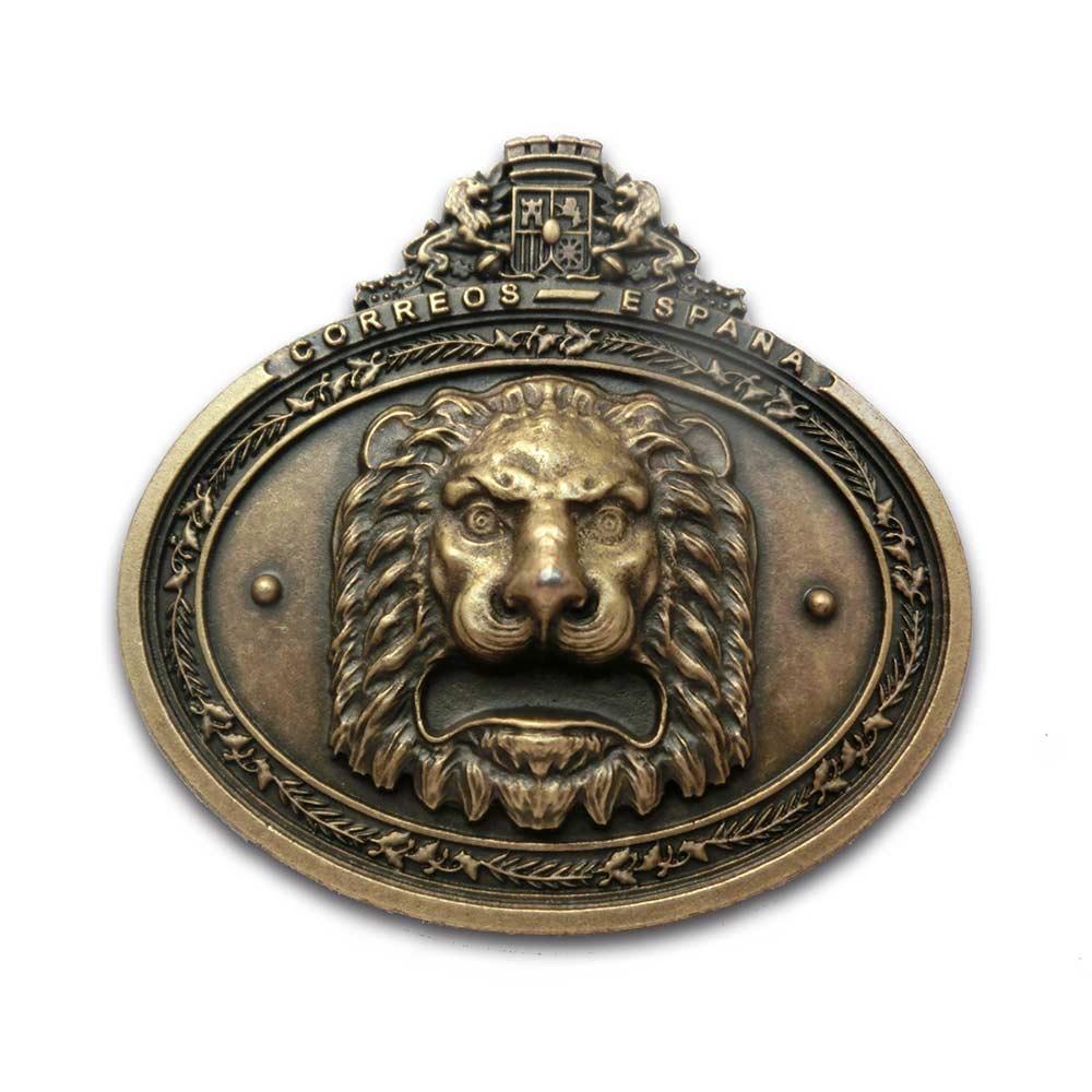 Imán cabeza de león Correos