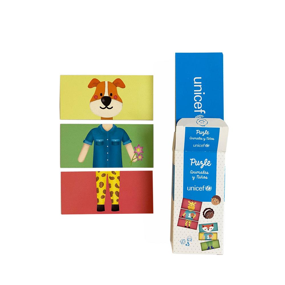 Puzzle animales y niños UNICEF