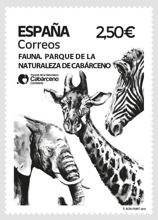Sello Fauna. Parque de naturaleza de Cabárceno