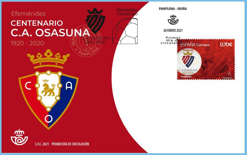 Sobre Primer Día Centenario Atlético Osasuna