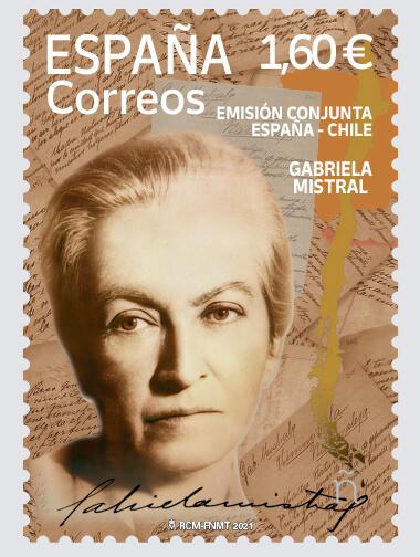 Sello Gabriela Mistral (pack de 5)