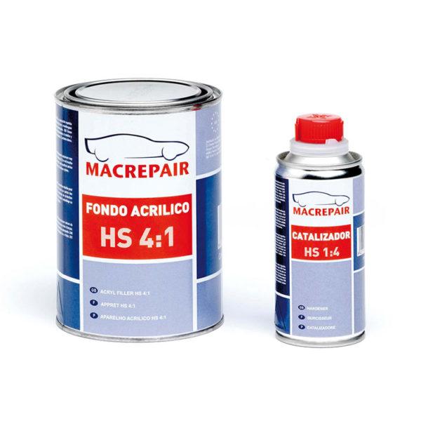 Macrepair Aparejo fondo acrílico HS 4:1 0,8L+0,2L gris