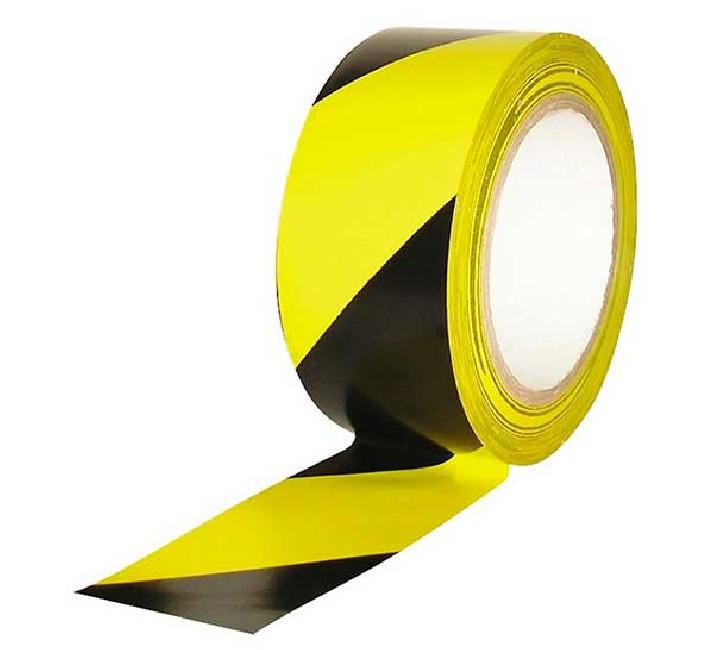 MIARCO Cinta adhesiva de señalización amarilla/negra 50mmX33m