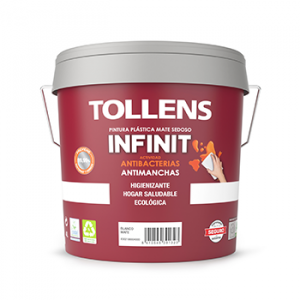 Tollens Pintura plástica infinit antibacterias 4L