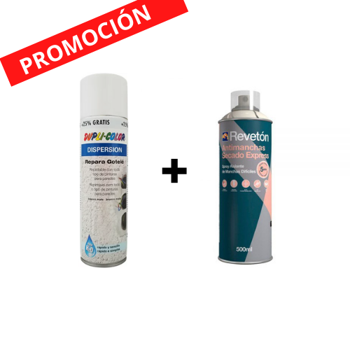 Spray antimanchas 500ml + repara gotelé 400ml+25% gratis