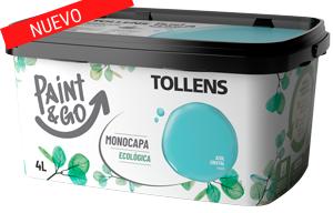 Tollens Cubeta paint&go monocapa ecológica 4 L