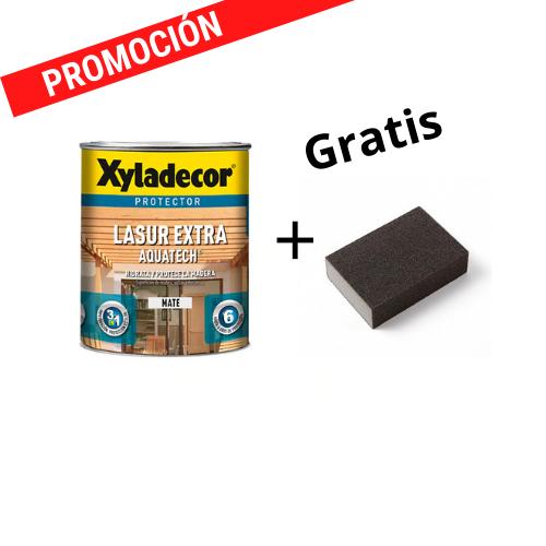 Xyladecor Lasur Extra aquatech mate  750ml + Taco de lija