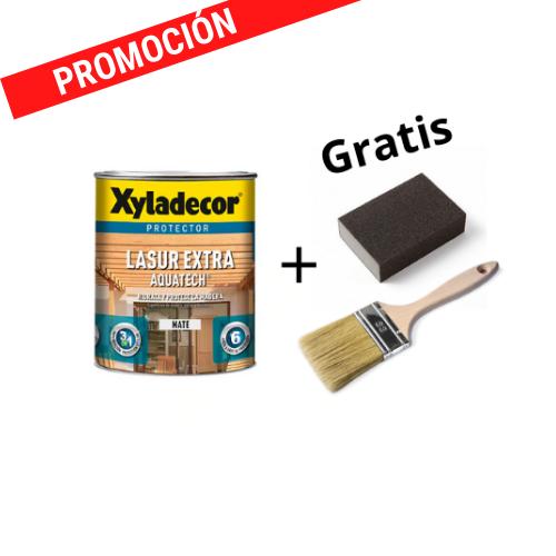 Xyladecor Lasur Extra aquatech mate 2,5 L + Taco de lija + Paletina Nº 21