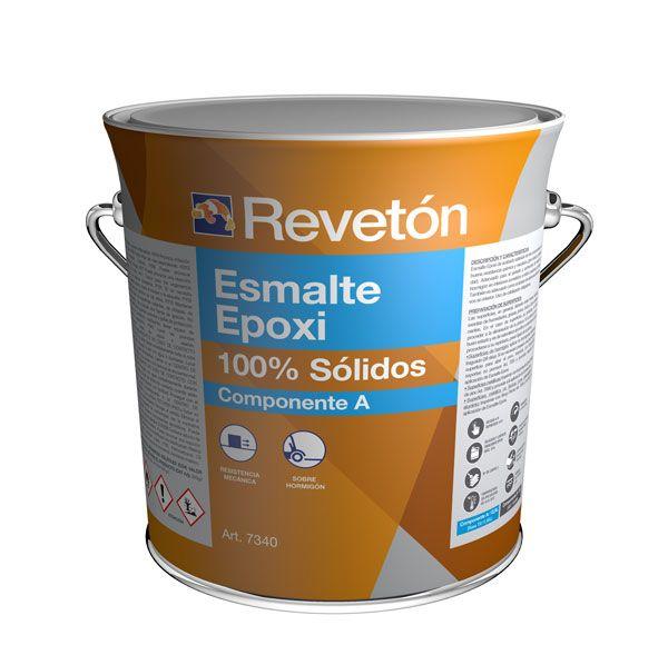 Revetón Epoxi 100% sólidos 2 componentes 15 kg (A+B) colores desde RAL1000  hasta RAL5024