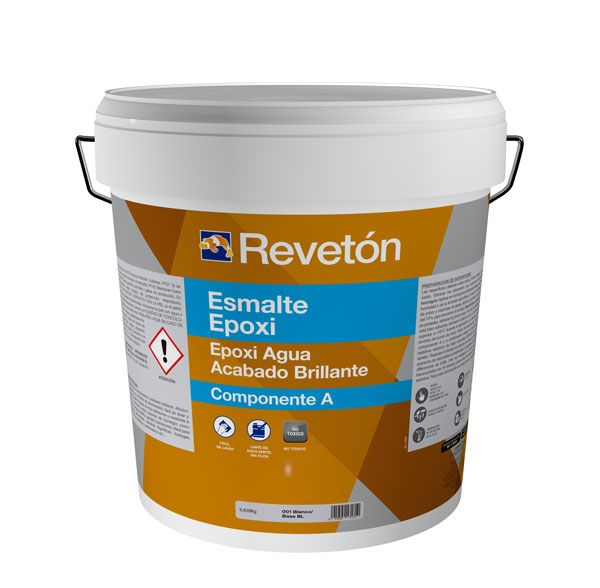 Revetón Epoxi al agua  2 componentes (A+B) 11 kg  colores desde RAL6000 hasta RAL9018