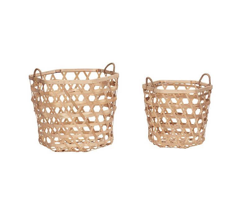 Set 2 Baskets de bamboo