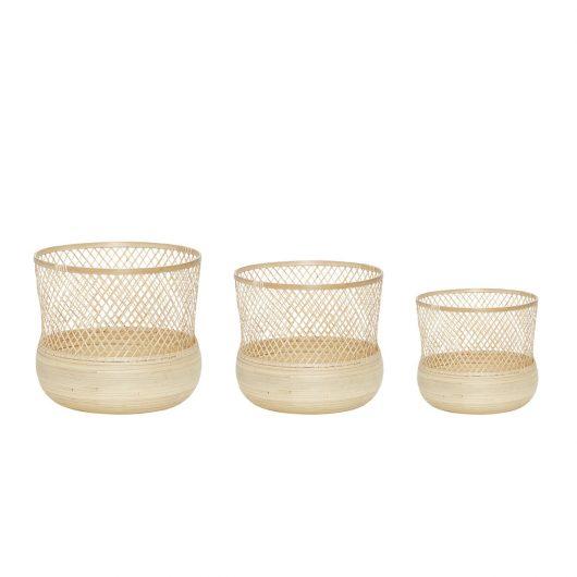 Set de 3 Baskets de bamboo