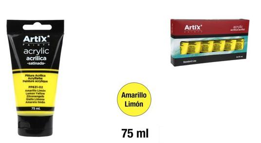 PINTURA  ACRILICA AMARILLO LIMON 75ML