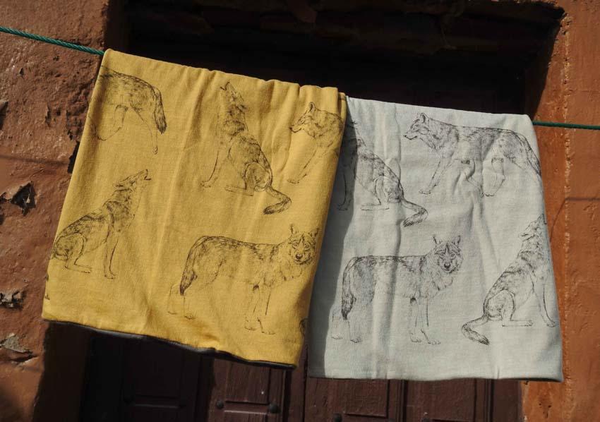 Giraffa Pañuelo tubular reversible Lobo Ibérico