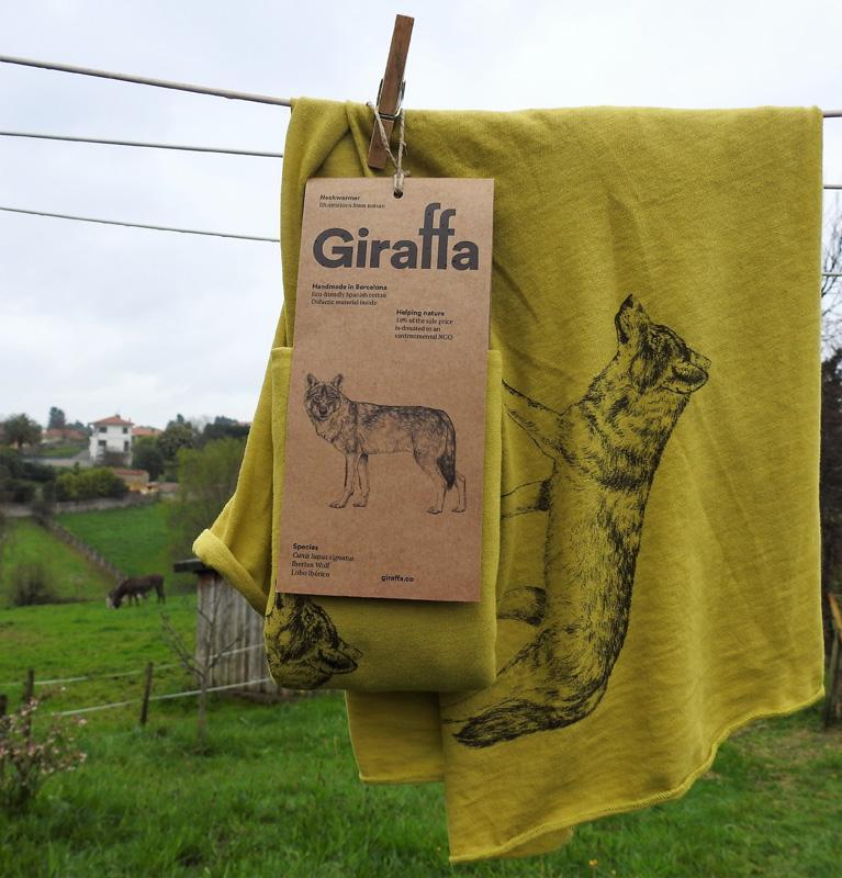 Giraffa Fular Lobo Ibérico