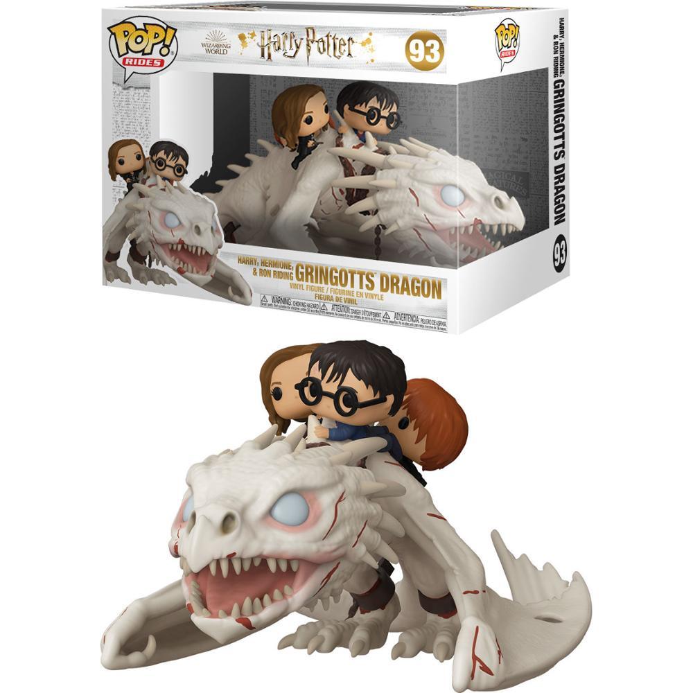 Dragon con Harry, Ron y Hermione