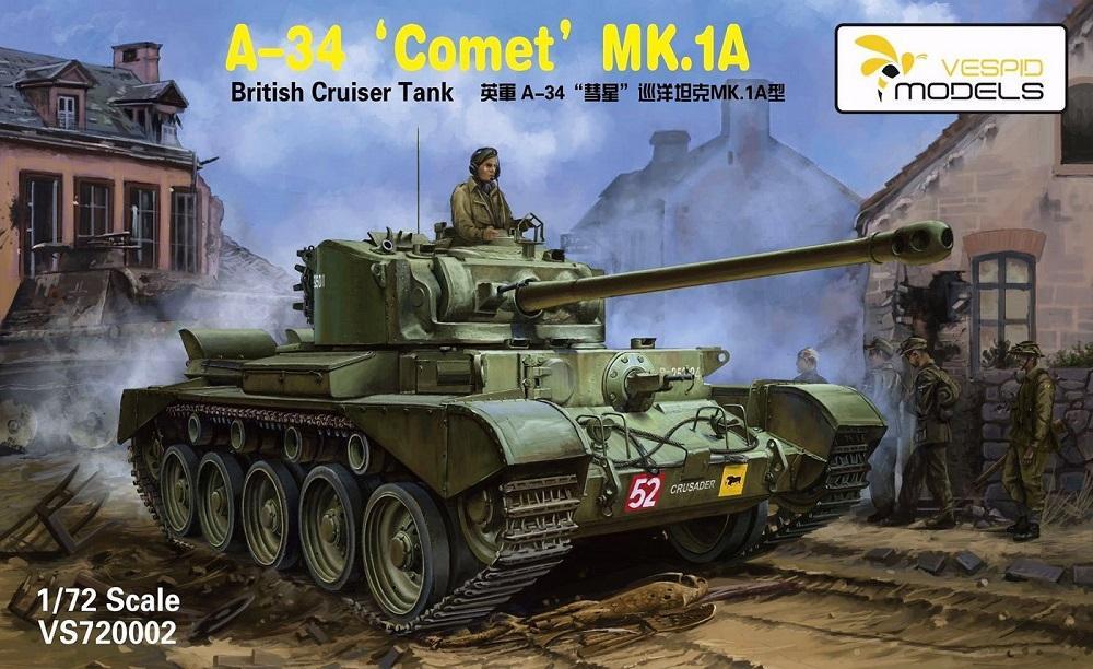 VESPID MODELS British Cruiser Tank A-34 'Comet' Mk.1A