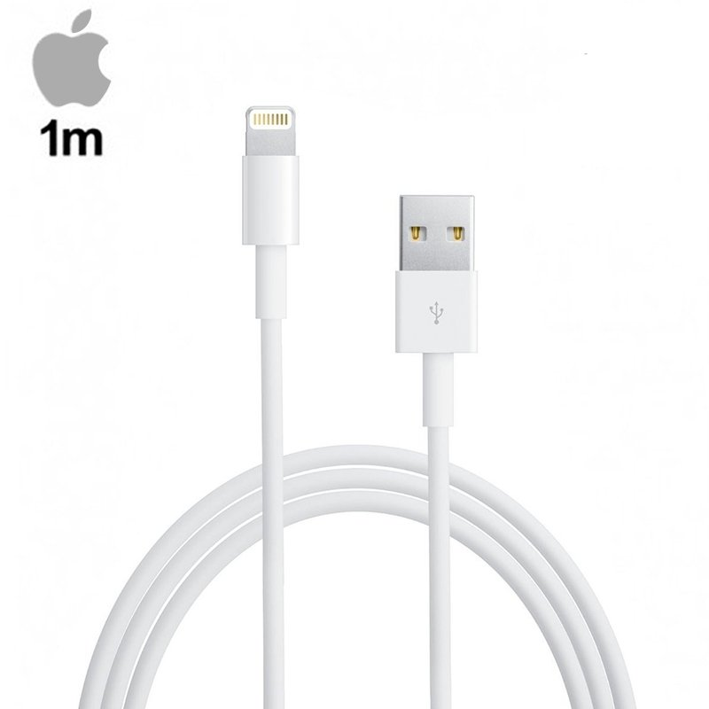 COOL Cable USB Original iPhone 5 / 5s / 6 / 6 Plus / 7 / 7 Plus / iPad Mini / iPad 4 (Sin Blister) 1 metro