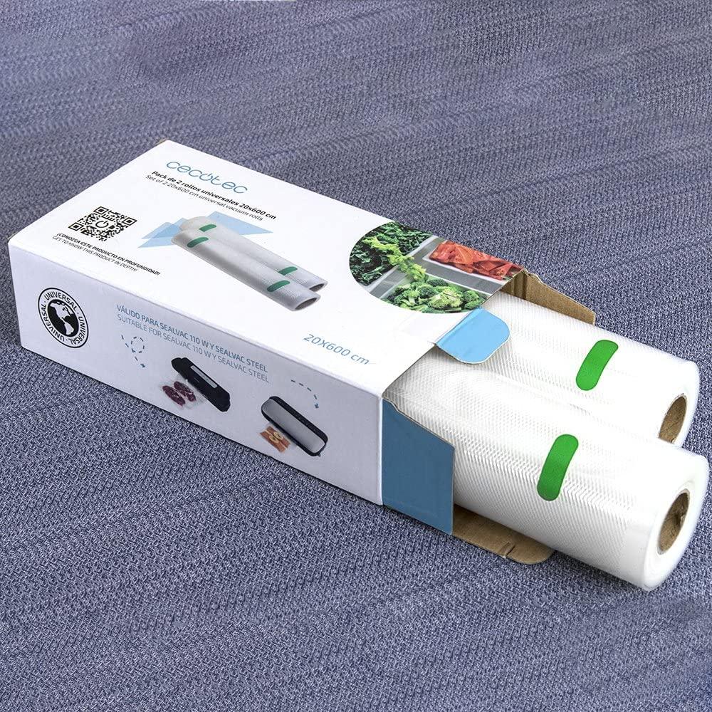 CECOTEC Pack de rollos 20 x 600 para envasadora