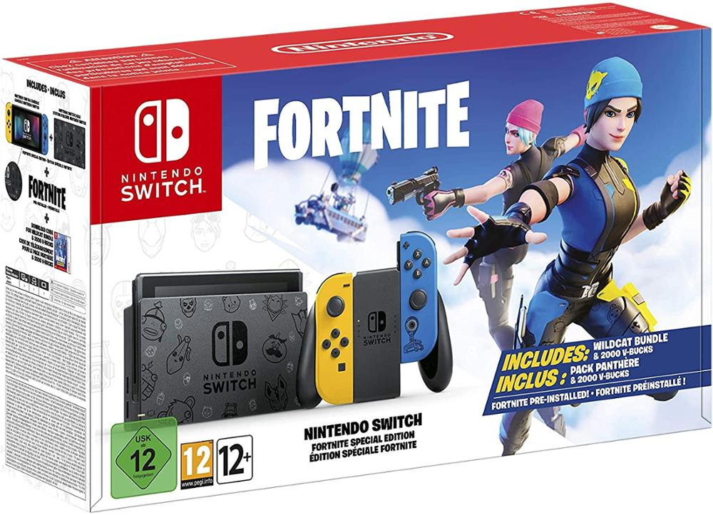 NINTENDO CONSOLA SWITCH EDICION ESPECIAL FORTNITE