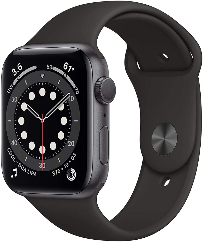 APPLE Watch Series 6 44mm GPS + Celular - Space Grey - Negro