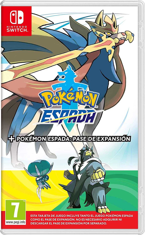 NINTENDO JUEGO Switch Pokemon Espada + Pase de Expansión
