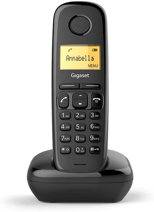 GIGASET Telefono Fijo Inalambrico A170 - Negro