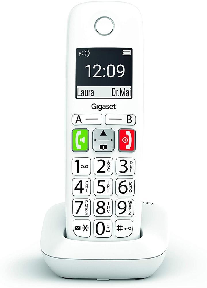 GIGASET Telefono Fijo Inalámbrico E290 - Blanco