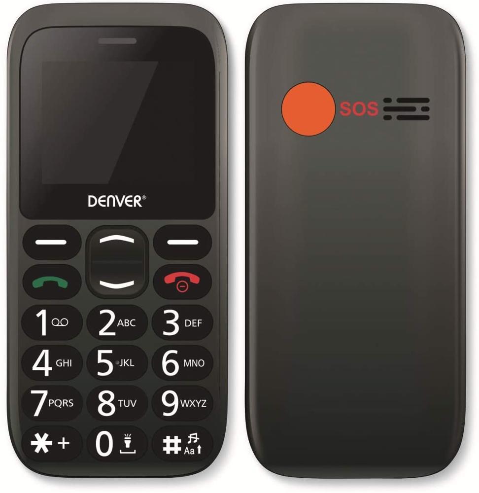 DENVER Teléfono Móvil BAS-18300M DS para Mayores