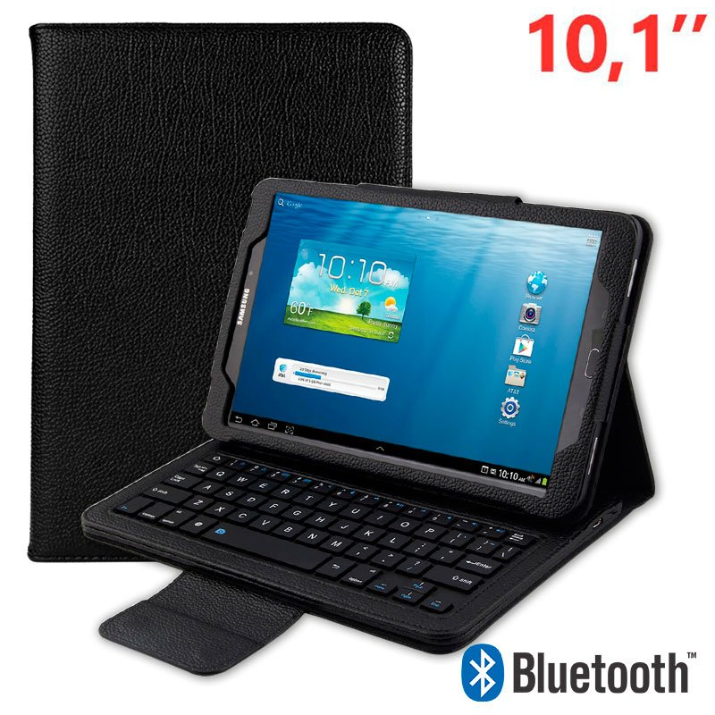 "COOL Funda con Teclado BT Tablet Samsung T580 / T585 10,1"" Polipiel Negro"