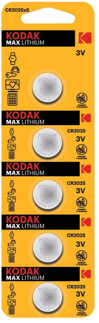 KODAK Blister Pila Boton Litio Max Ultra CR2025 - 1 UNIDAD