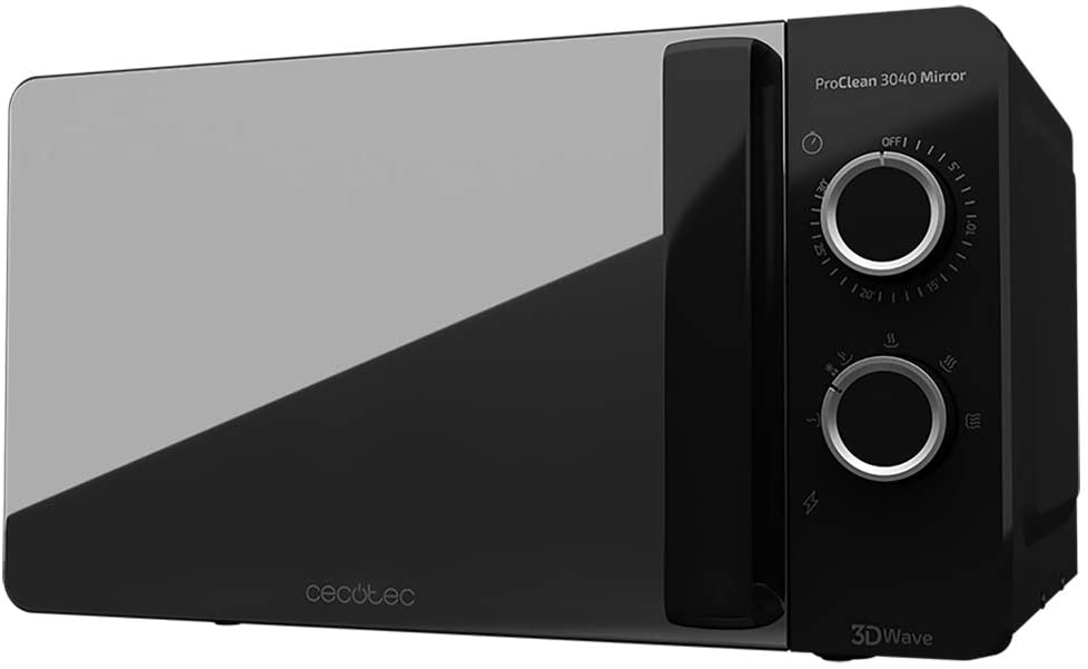 CECOTEC Microondas Proclean 3040 Mirror 20L - Negro